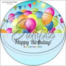 "Happy Birthday #8 ~ 7"" Round Foil Pan Lid Cover"