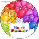"Happy Birthday #10 ~ 7"" Round Foil Pan Lid Cover"