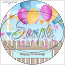"Happy Birthday #12 ~ 7"" Round Foil Pan Lid Cover"
