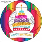 "Happy Birthday #13 ~ 7"" Round Foil Pan Lid Cover"