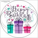 "Happy Birthday #16 ~ 7"" Round Foil Pan Lid Cover"