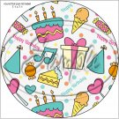 "Happy Birthday #20 ~ 7"" Round Foil Pan Lid Cover"
