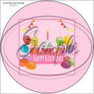"Happy Birthday #21 ~ 7"" Round Foil Pan Lid Cover"