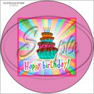 "Happy Birthday #22 ~ 7"" Round Foil Pan Lid Cover"