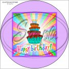 "Happy Birthday #22A ~ 7"" Round Foil Pan Lid Cover"