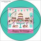 "Happy Birthday #24 ~ 7"" Round Foil Pan Lid Cover"