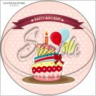 "Happy Birthday #25 ~ 7"" Round Foil Pan Lid Cover"