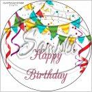 "Happy Birthday #27C ~ 7"" Round Foil Pan Lid Cover"