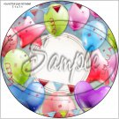 "Happy Birthday #28 ~ 7"" Round Foil Pan Lid Cover"