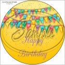 "Happy Birthday #35A ~ 7"" Round Foil Pan Lid Cover"