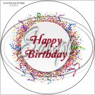 """Happy Birthday #36A ~ 7"""" Round Foil Pan Lid Cover"""