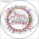 "Happy Birthday #36D ~ 7"" Round Foil Pan Lid Cover"
