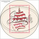 """Happy Birthday #38 ~ 7"""" Round Foil Pan Lid Cover"""