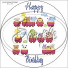 """Happy Birthday #39A ~ 7"""" Round Foil Pan Lid Cover"""