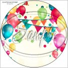 """Happy Birthday #41 ~ 7"""" Round Foil Pan Lid Cover"""