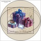 "Happy Birthday #46 ~ 7"" Round Foil Pan Lid Cover"