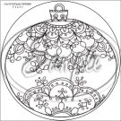 "Adult Coloring ~ Christmas Ornament ~ 7"" Round Foil Pan Lid Cover"