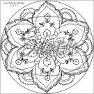 "Adult Coloring ~ Dutch Flower ~ 7"" Round Foil Pan Lid Cover"