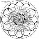 "Adult Coloring ~ Floral Mandala ~ 7"" Round Foil Pan Lid Cover"