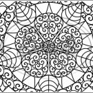 "Adult Coloring ~ Floral ~ Horizontal  ~ 6"" X 8"" Foil Pan Lid Cover"