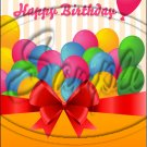 """Happy Birthday #3 ~ Vertical ~ 6"""" X 8"""" Foil Pan Lid Cover"""