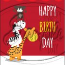 "Happy Birthday #4 ~ Vertical ~ 6"" X 8"" Foil Pan Lid Cover"