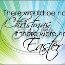 "No Christmas, No Easter #2 ~ Horizontal  ~ 6"" X 8"" Foil Pan Lid Cover"