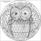 "Adult Coloring ~ Owl ~ 7"" Round Foil Pan Lid Cover"
