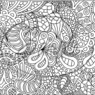 "Adult Coloring ~ Paisley Dreams ~ Horizontal  ~ 6"" X 8"" Foil Pan Lid Cover"