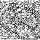 "Adult Coloring ~ Rose ~ Horizontal  ~ 6"" X 8"" Foil Pan Lid Cover"