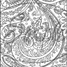 "Adult Coloring ~ Royality Paisley ~ Vertical ~ 6"" X 8"" Foil Pan Lid Cover"