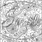 "Adult Coloring ~ Sea Fun ~ Vertical ~ 6"" X 8"" Foil Pan Lid Cover"
