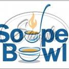 """Souper Bowl Laddle ~ Horizontal  ~ 6"""" X 8"""" Foil Pan Lid Cover"""