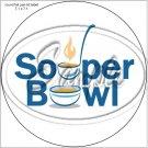 """Souper Bowl Laddle  ~ 7"""" Round Foil Pan Lid Cover"""