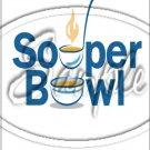 """Souper Bowl Laddle ~ Vertical ~ 6"""" X 8"""" Foil Pan Lid Cover"""