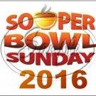 "Souper Bowl Sunday 2016 ~ Horizontal  ~ 6"" X 8"" Foil Pan Lid Cover"