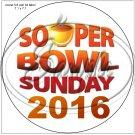 """Souper Bowl Sunday 2016  ~ 7"""" Round Foil Pan Lid Cover"""