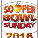 """Souper Bowl Sunday 2016 ~ Vertical ~ 6"""" X 8"""" Foil Pan Lid Cover"""