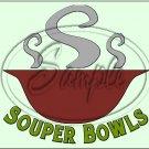 "Souper Bowls Green ~ Horizontal  ~ 6"" X 8"" Foil Pan Lid Cover"