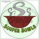"""Souper Bowls Green  ~ 7"""" Round Foil Pan Lid Cover"""