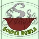 "Souper Bowls Green ~ Vertical ~ 6"" X 8"" Foil Pan Lid Cover"