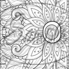 "Adult Coloring ~ Sunflower ~ Vertical ~ 6"" X 8"" Foil Pan Lid Cover"