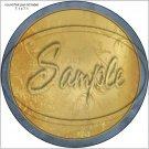 "Gold Emobssed ~ 7"" Round Foil Pan Lid Cover"