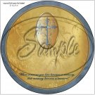 """Gold with Puter Cross Sympathy ~ 7"""" Round Foil Pan Lid Cover"""