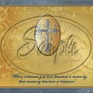 """Gold with Puter Cross Sympathy ~ Horizontal  ~ 6"""" X 8"""" Foil Pan Lid Cover"""