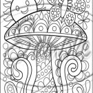 "Adult Coloring ~ Toadstool ~ Vertical ~ 6"" X 8"" Foil Pan Lid Cover"