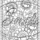 "Adult Coloring ~ Tulips ~ Vertical ~ 6"" X 8"" Foil Pan Lid Cover"
