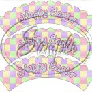 Pastel Checkered Easter  ~ Scallop Cupcake Wrappers ~ Set of 1 Dozen