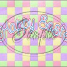 """Pastel Checkered Easter  ~ Horizontal  ~ 6"""" X 8"""" Foil Pan Lid Cover"""