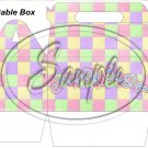 Pastel Checkered Easter  ~ Gable Gift or Snack Box